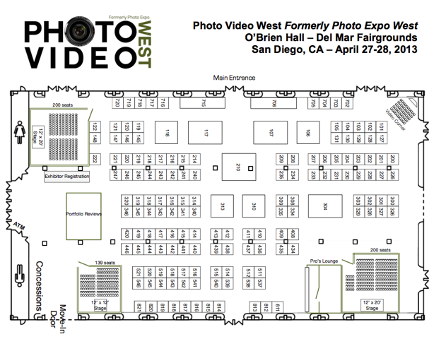 San Diego Photo Video West Floorplan and map